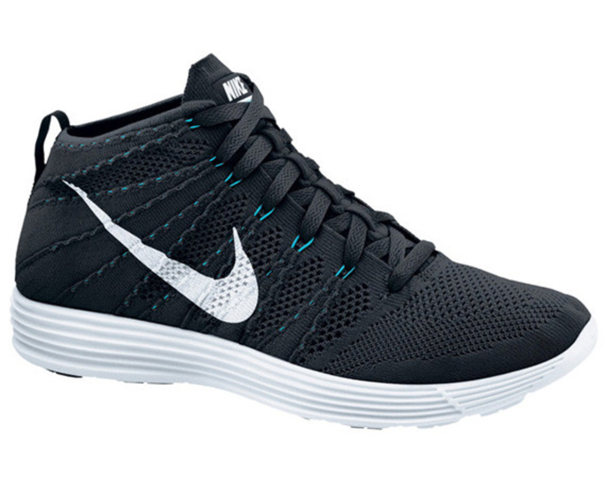 nike lunar flyknit chukka black white neo turquoise. Black Bedroom Furniture Sets. Home Design Ideas