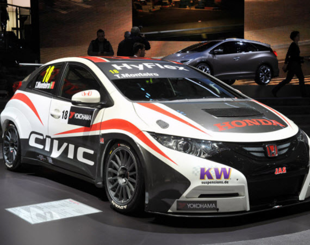 Honda Has Unveiled Their New 2013 Civic WTCC Racecar At The Geneva Motor  Show, Which Is Probably The Best Youu0027ll See It Once The IAF World Touring  Car ...