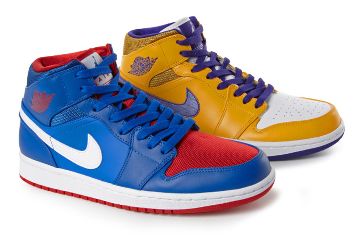 "Air Jordan 1 Mid ""Lakers + Pistons"" - Rivalry Pack - Freshness Mag"