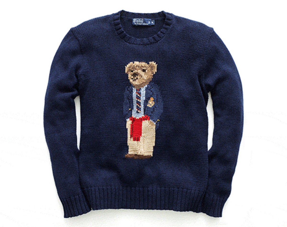 5e1d520d54e8 Ralph Lauren To Re-issue Polo Bear Sweaters - Freshness Mag