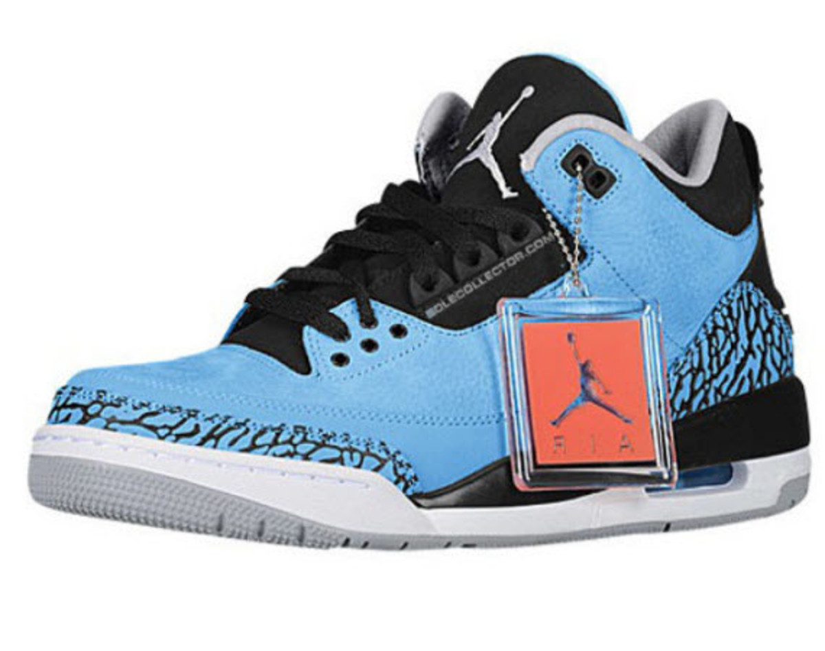 907c23803fc667 promo code for air jordan 3 powder blu on feet e16e4 0d77d