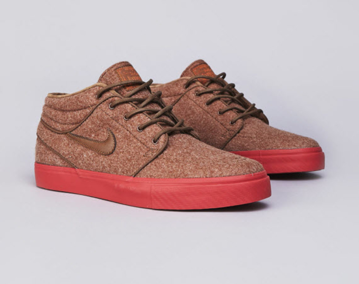 6cb6669d1ec3 Nike is introducing a new color scheme for the popular Nike SB Stefan  Janoski Mid that is sure to turn a few heads this season. Featuring a  completely wool ...