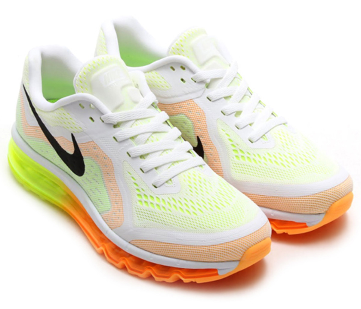 Nike Air Max 2014 White Atomic Mango Volt