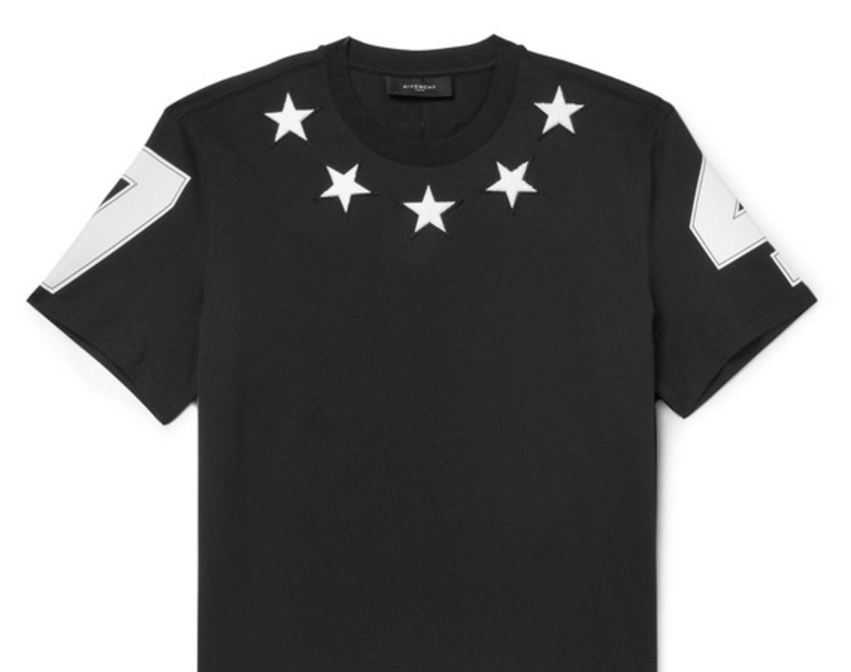 bdddae27 GIVENCHY - Cuban-Fit Embroidered Star Tee - Freshness Mag