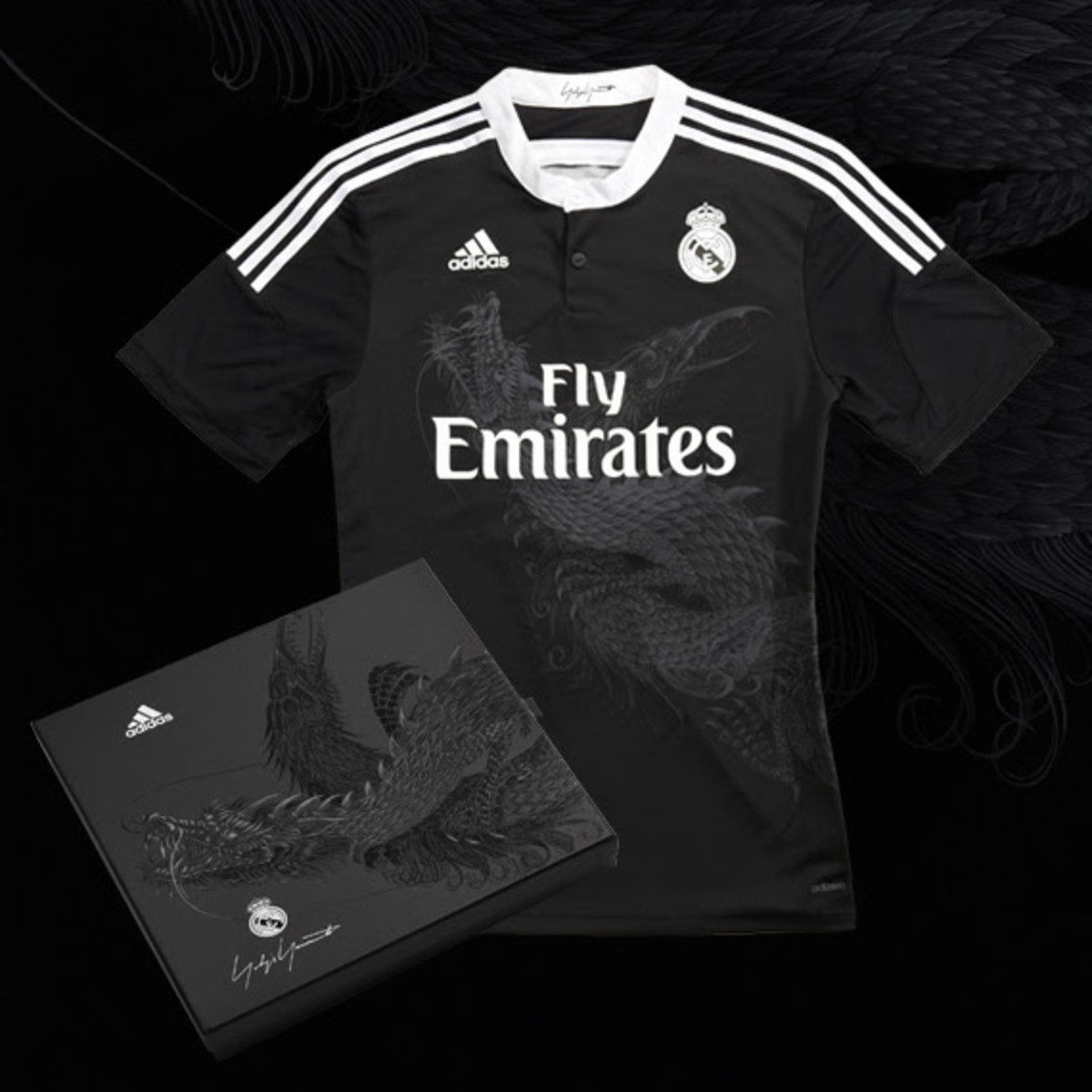 huge selection of c6256 43320 Yohji Yamamoto x adidas - 2014-2015 Real Madrid Third Kit ...