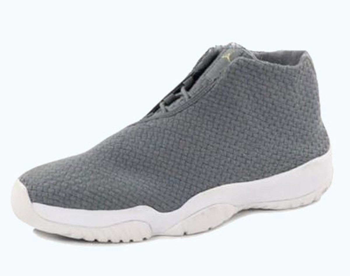 d44ee9305a4e A seasonally appropriate Cool Grey White model is the next to join the  fast-growing Air Jordan Future family. With its nicely textured woven  upper