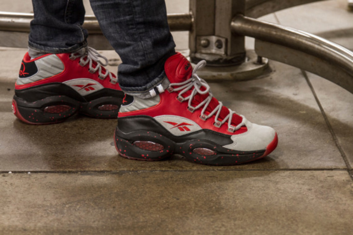 Reebok question mid red