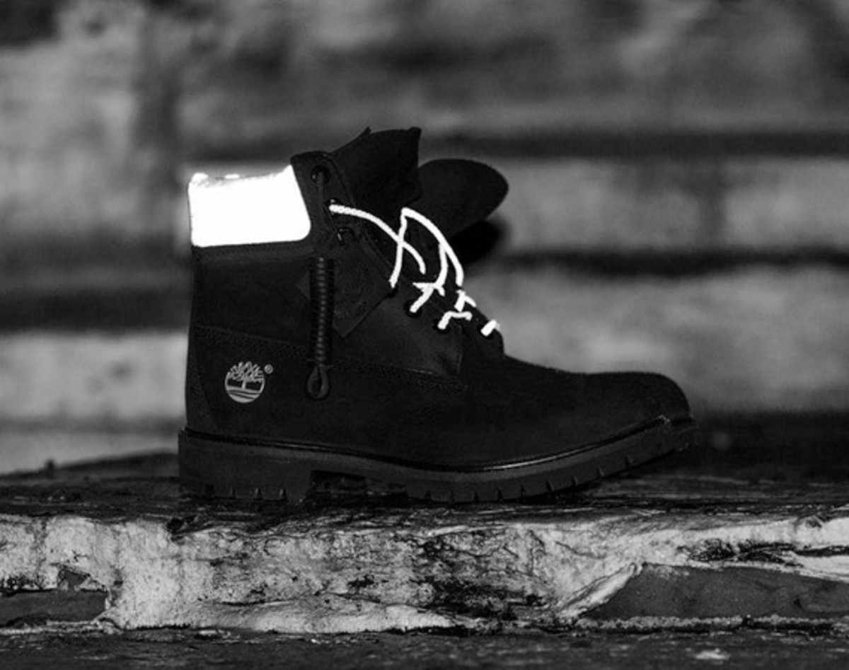 38172e8ffae8f DTLR x Timberland 6-Inch Black Reflective Boot - Freshness Mag