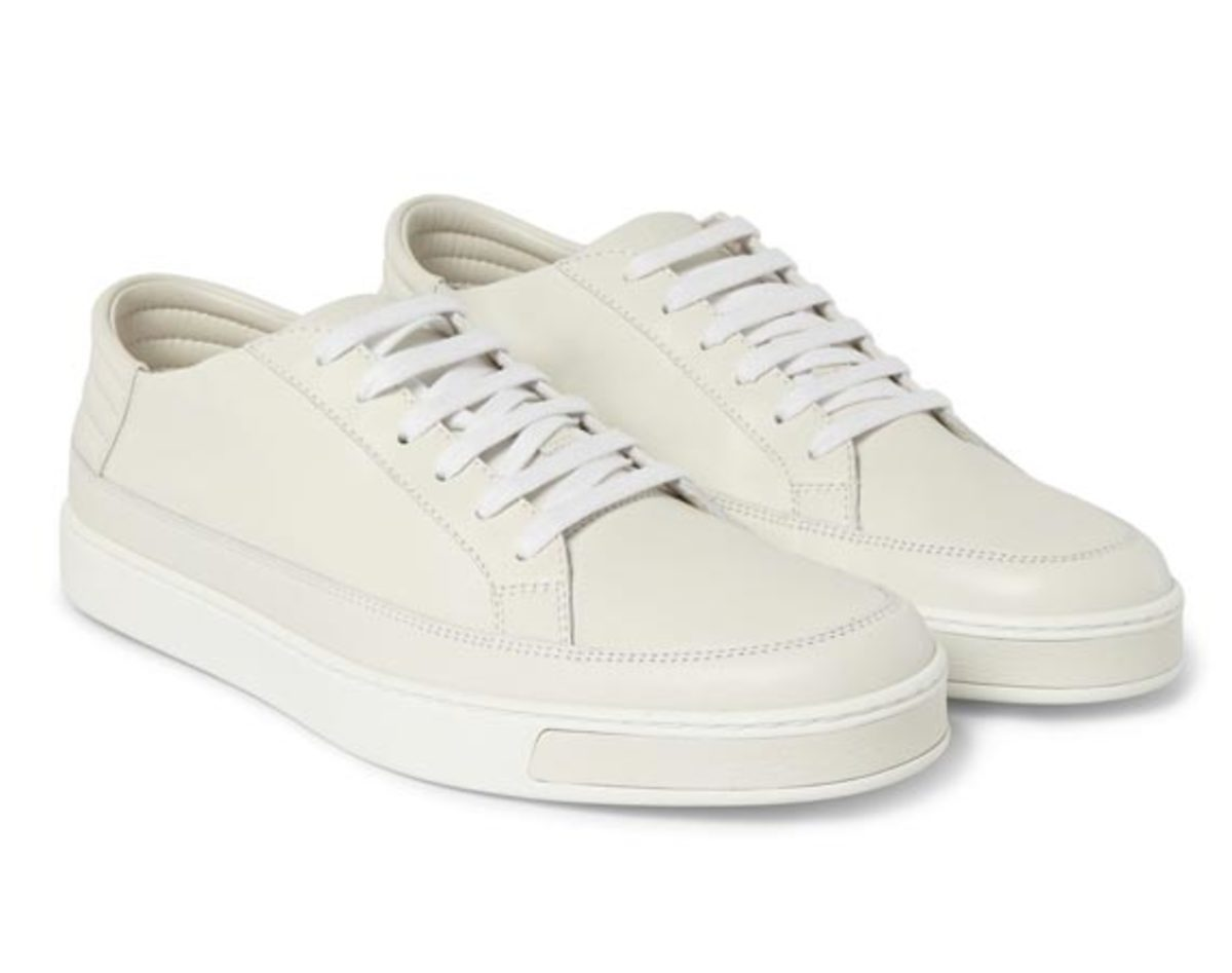 Gucci Leather Low-Top Sneakers - All-White
