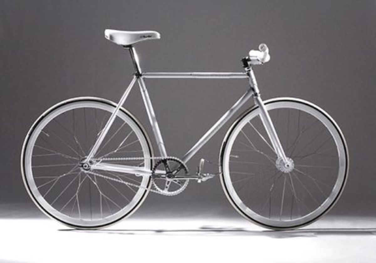 Nike Air Force 1 - Silver Service Fixie Bike - 0