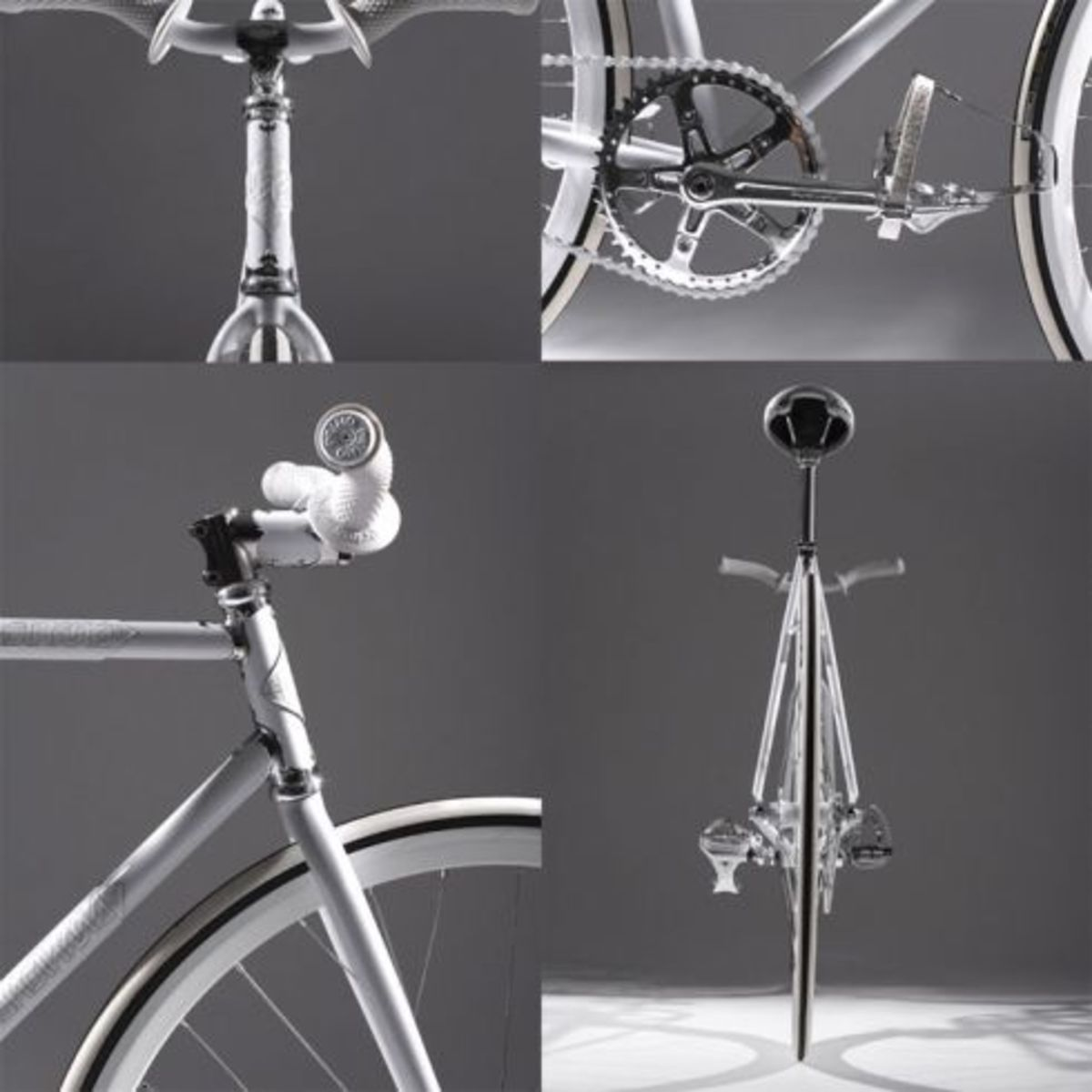 Nike Air Force 1 - Silver Service Fixie Bike - 1