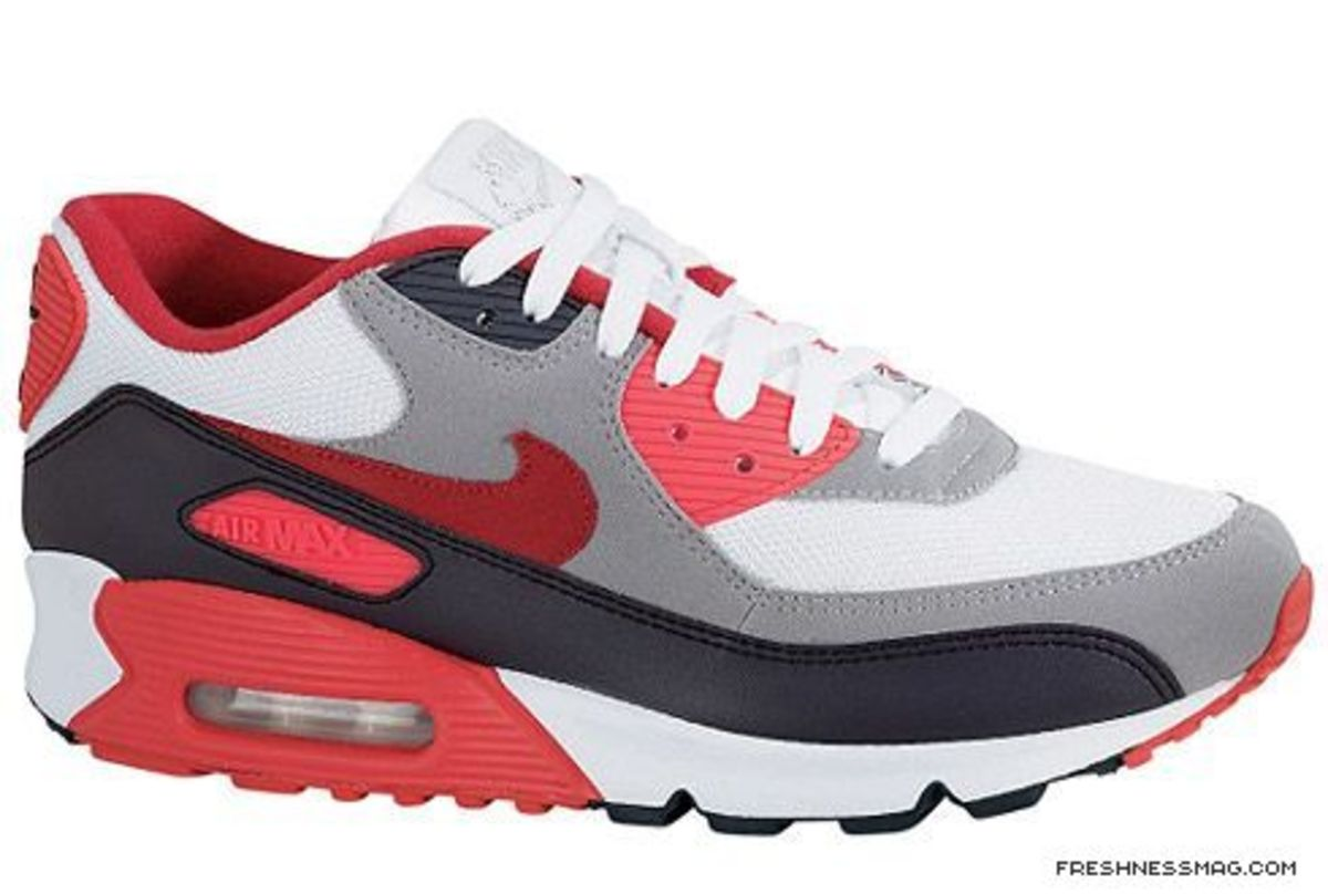 Nike - Air Max 90 EX White/Sport Red-Anthracite