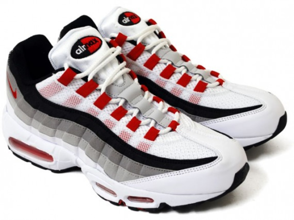 official photos 7e7d1 7305f Nike Air Max 95 - White Comet Red Neutral Grey Medium Grey   Available Now