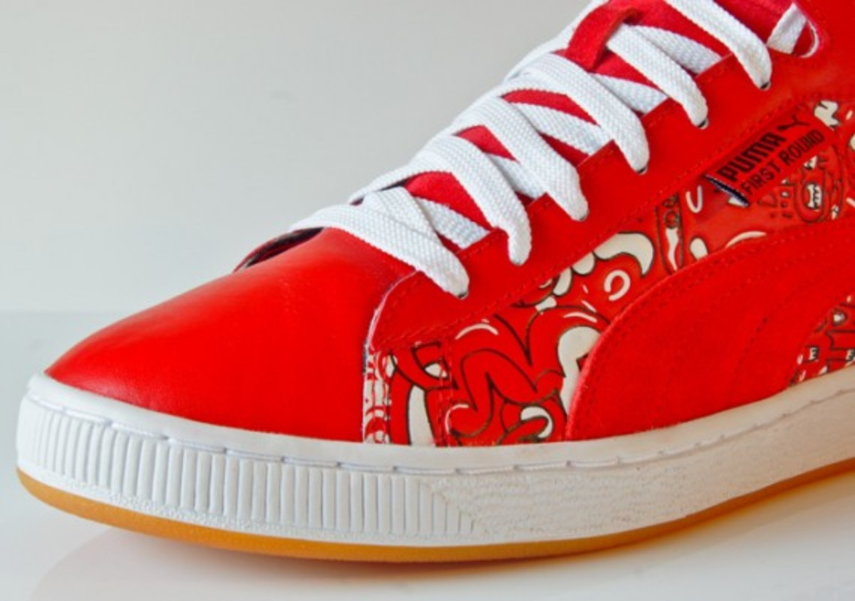 puma jon burgerman first round red 6