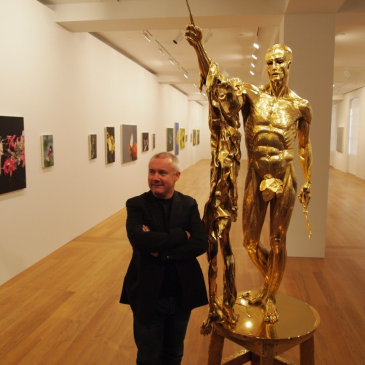 Damien Hirst with Saint Bartholomew Exquisite Pain