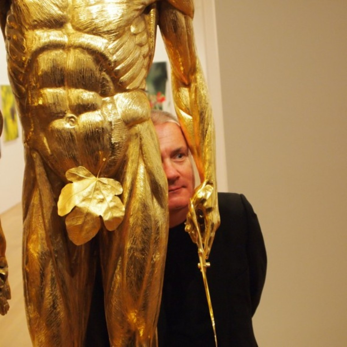 Damien Hirst with Saint Bartholomew Exquisite Pain 2