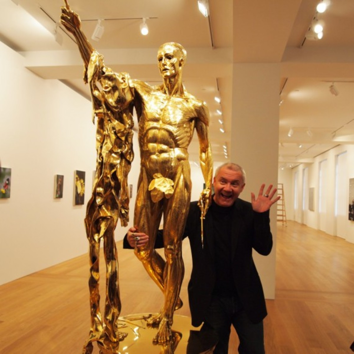 Damien Hirst with Saint Bartholomew Exquisite Pain 3