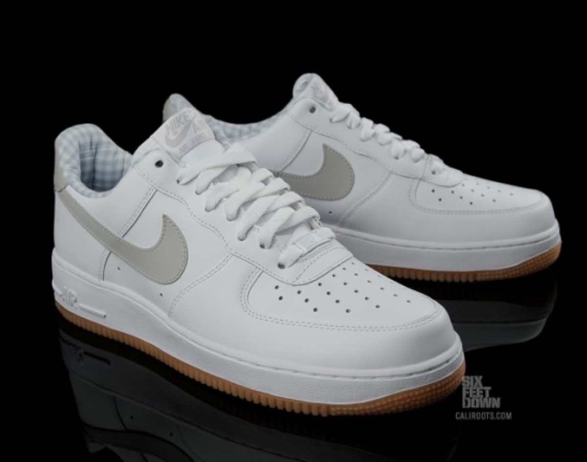 Nike Air Force 1 Blanco / Gris-tech Goma OpYW5av