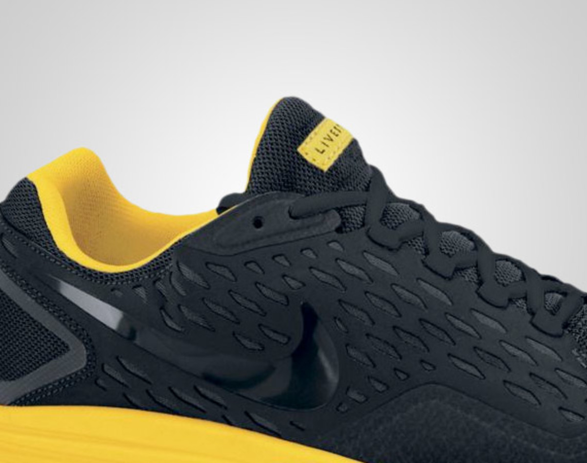 3e4ef8a32a93 Among the newest Nike shoes to be released under the familiar yellow and  black of the LIVESTRONG imprint is the LIVESTRONG Free Xilla.