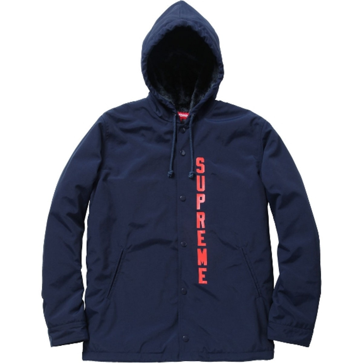 Thrasher X Supreme Hooded Coach Jacket Hoodies Available Now