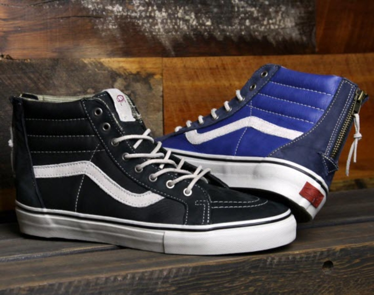 The Vans Vault remodel of the SK8-Hi we first previewed in March is finally  in stores. Featuring a full grain be60c24e96