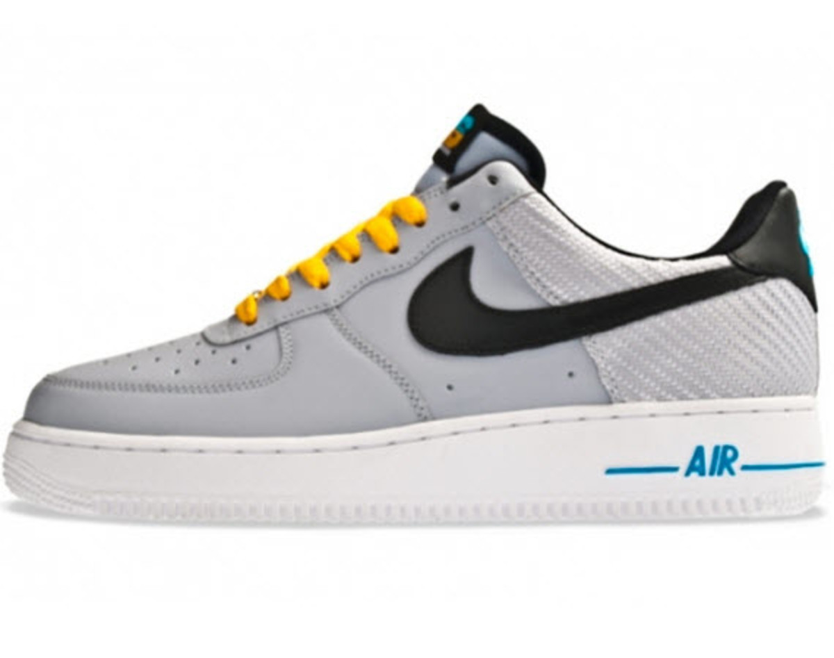 nike air force 1 grey and yellow