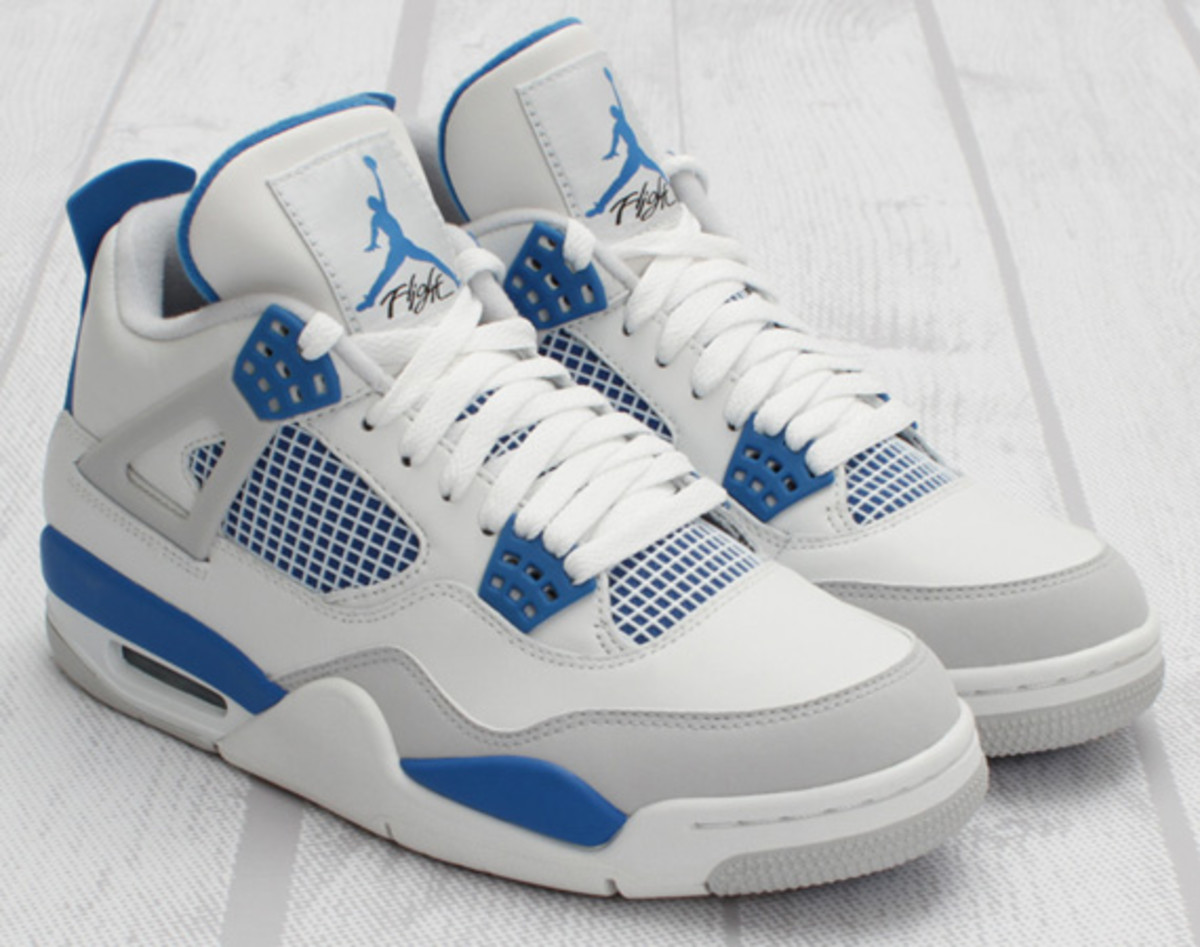 best authentic 0d2e7 41aa0 For those of you keeping score at home, these upcoming Military Blues will  be the latest of five Air Jordan IVs that Jordan Brand will release in 2012  ...