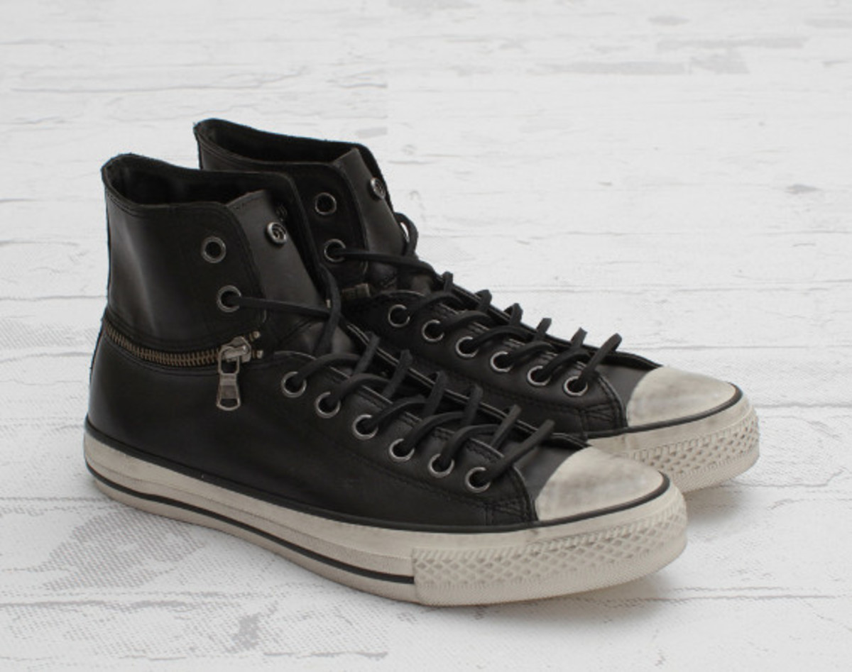 554dafc21211 ... interpretation of the CONVERSE Chuck Taylor All Star by John Varvatos  is arriving now at retailers. The kicks have a black leather upper with zip  detail ...