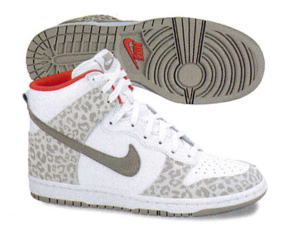 huge discount 93f43 28d7d Nike shows the ladies some love with this new set of Nike WMNS Dunk High  Skinny s accented with a wild leopard print. The first pair is dressed in a  soft ...