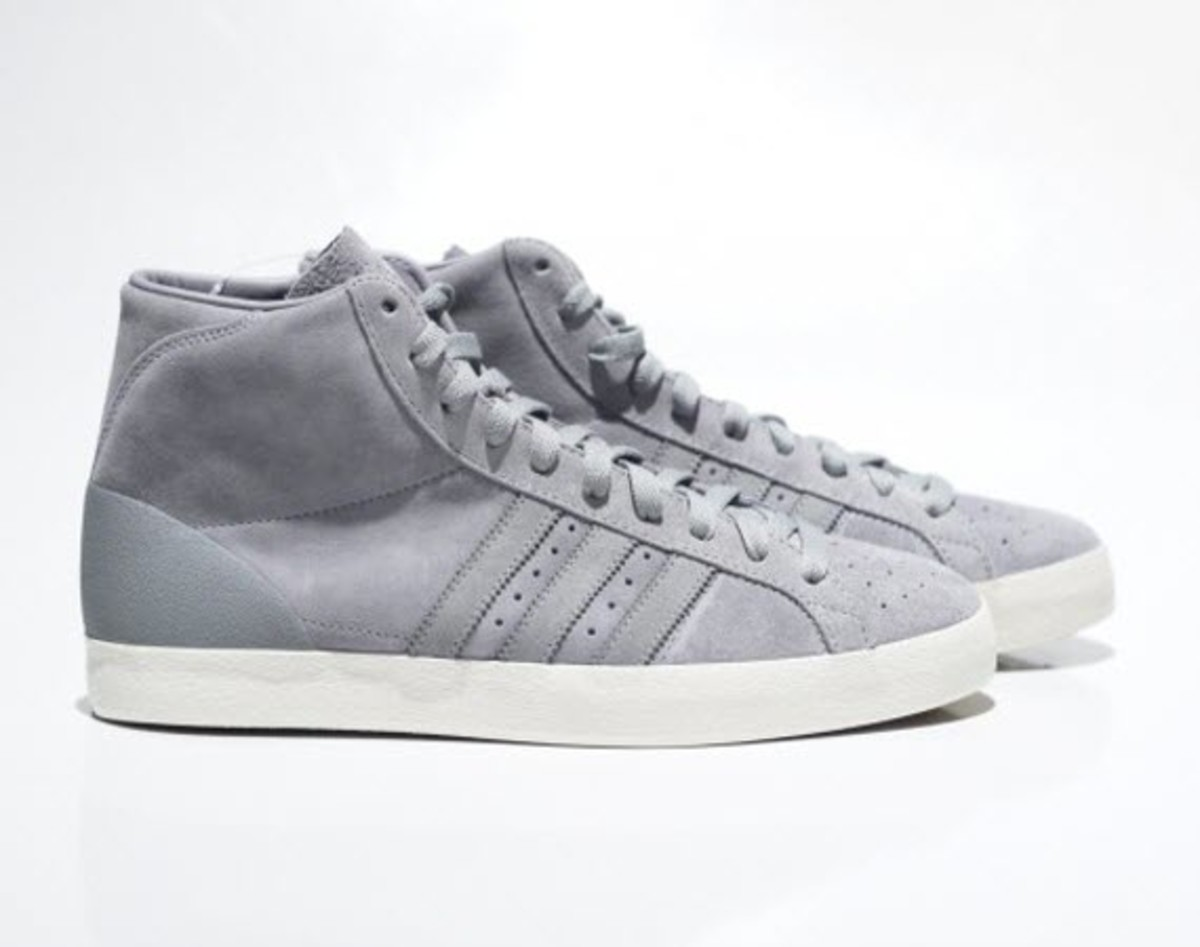 big sale 26674 97d7e Joining the Rod Laver in a cool grey is the Basket Profi from  TAKAHIROMIYASHITATheSoloIst s recent foray with adidas Originals.  Everything from the upper, ...