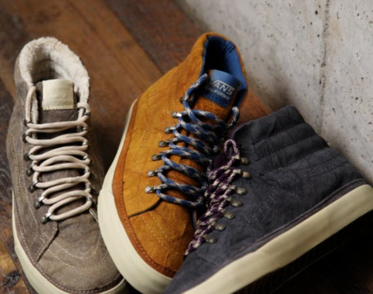 8b1827a356 Hiking looks are everywhere this time of year and VANS California s latest  release of their Sk8-Hi Hiker is right in tune with the demand.