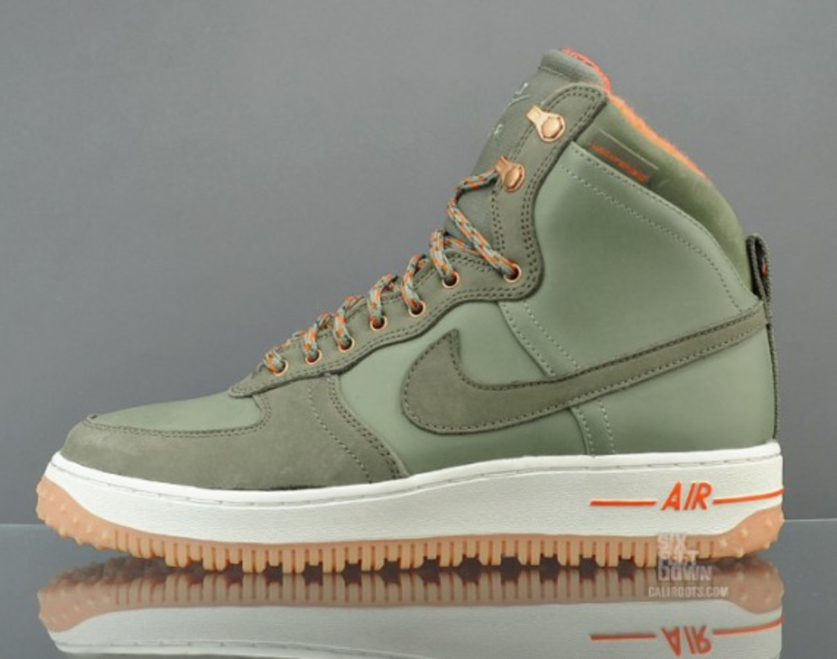Nike Air Force 1 Hi Deconstruct Military Boot Silver Sage