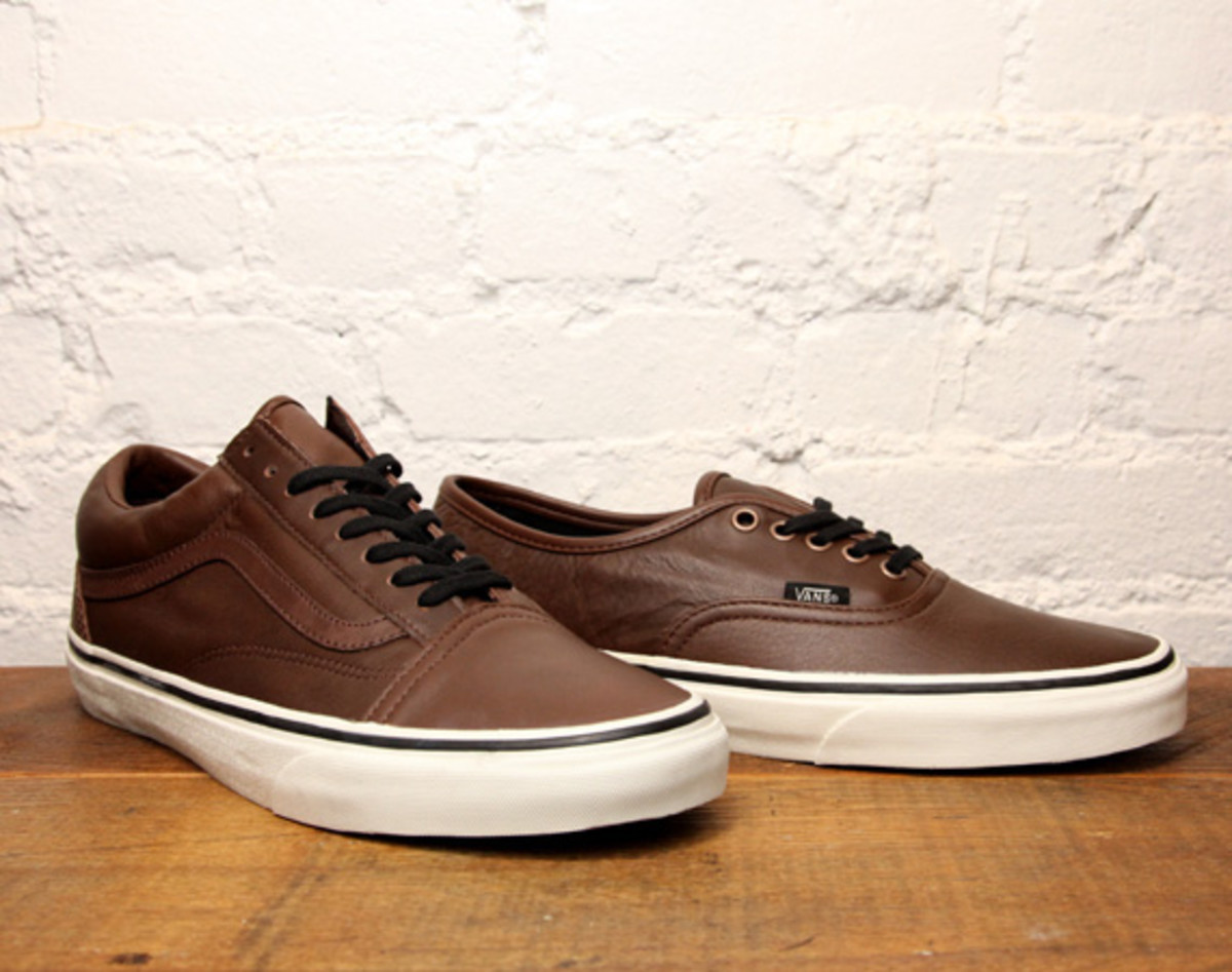 vans old skool brown leather