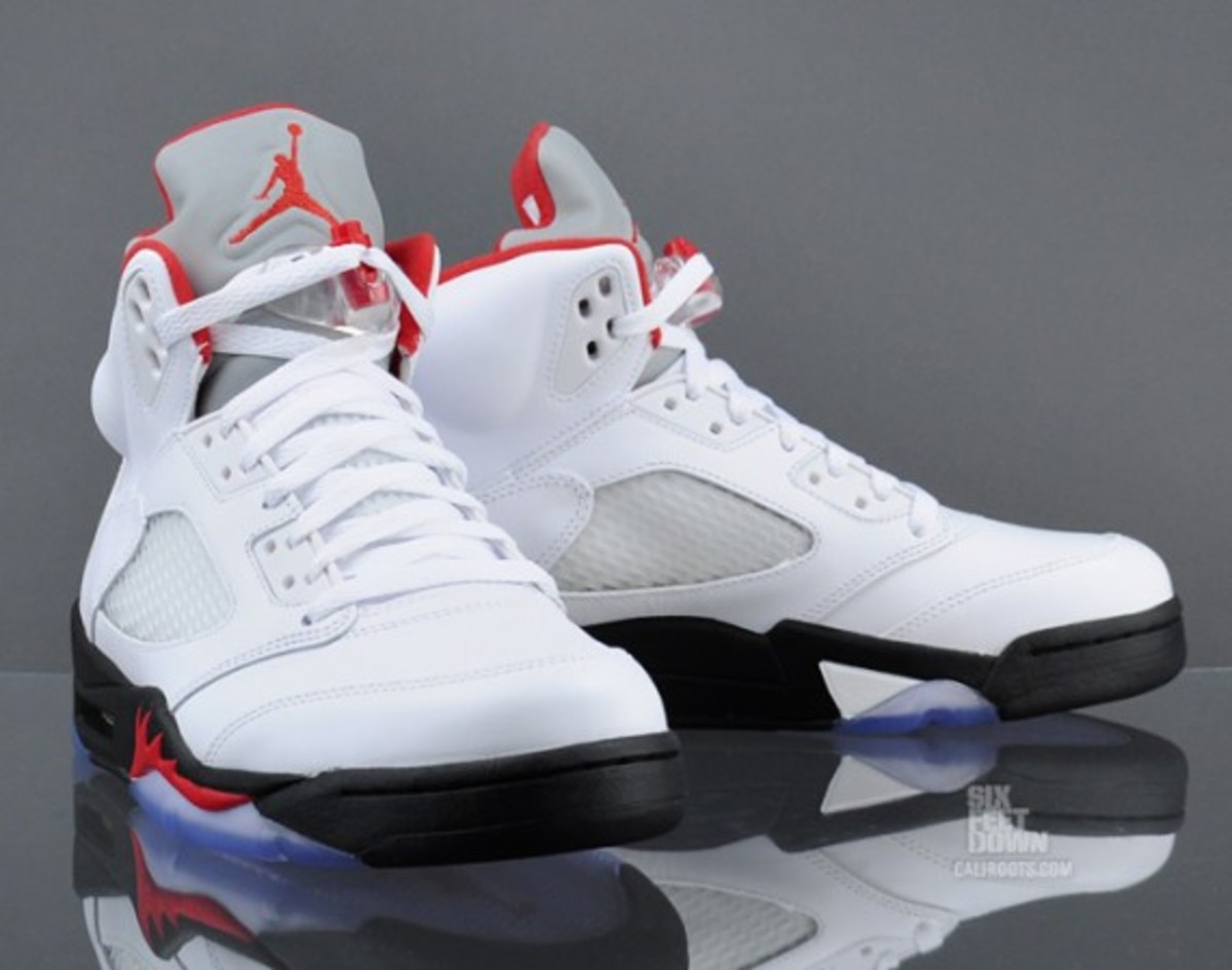 check out 872ca ea1b9 Air Jordan V Retro - White/Fire Red | Release Reminder ...