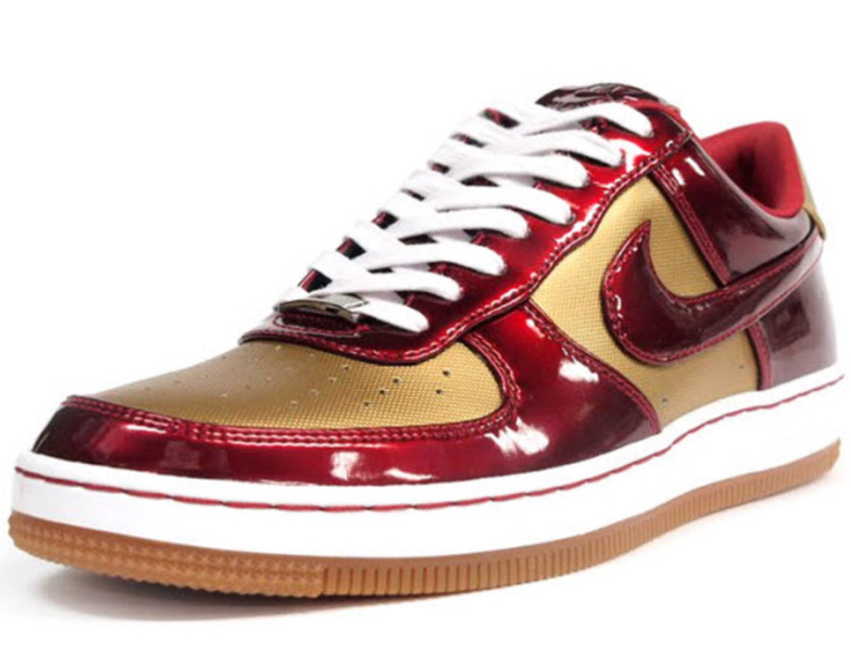 promo code 063a1 a190c get nike air force 1 gs shoes gold red f97ea 91b5e  promo code for rocking  a more traditional build than the black pair of wovens we previewed