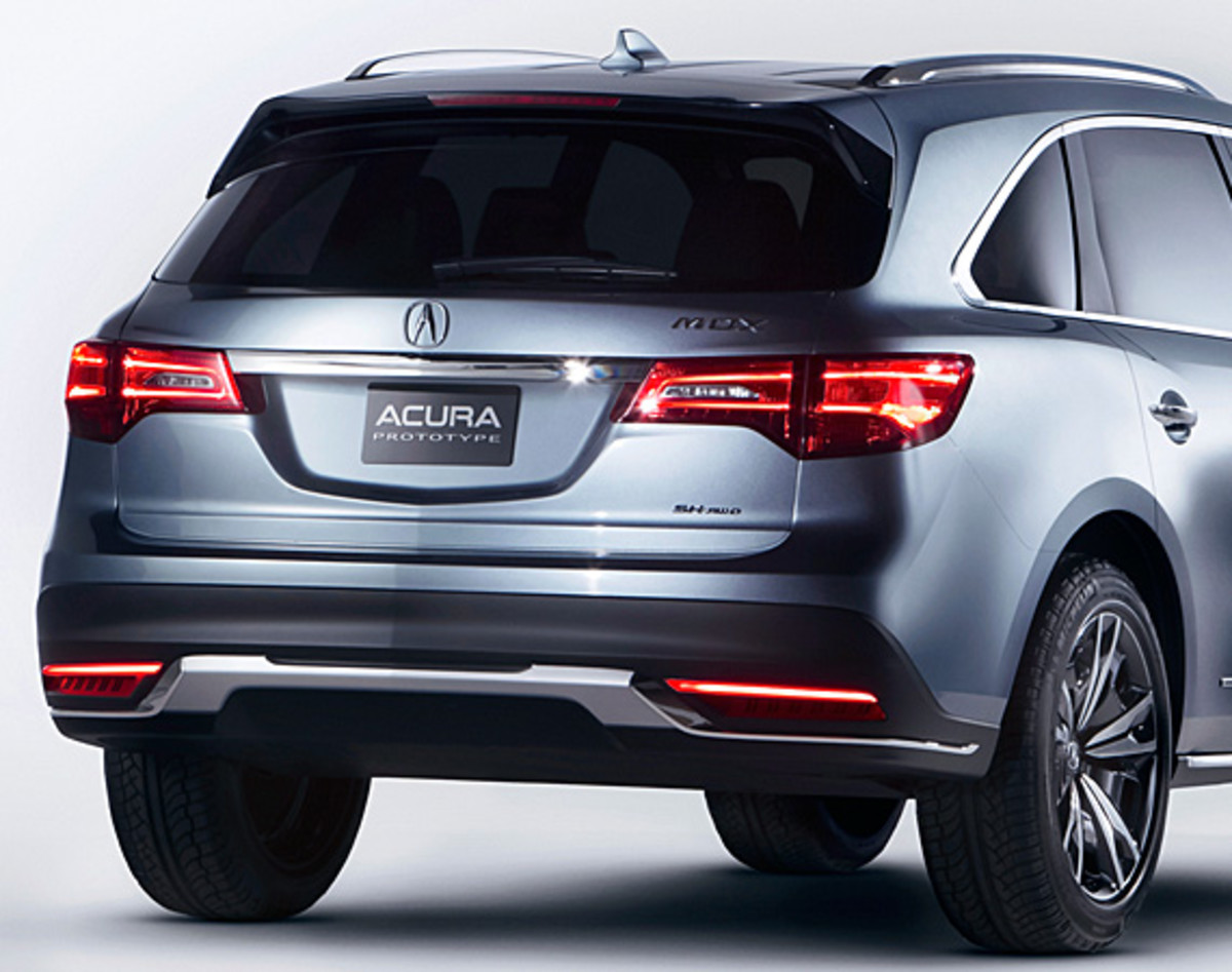 2014 acura mdx prototype an aero sculpture capable of seating 7 passenger freshness mag. Black Bedroom Furniture Sets. Home Design Ideas