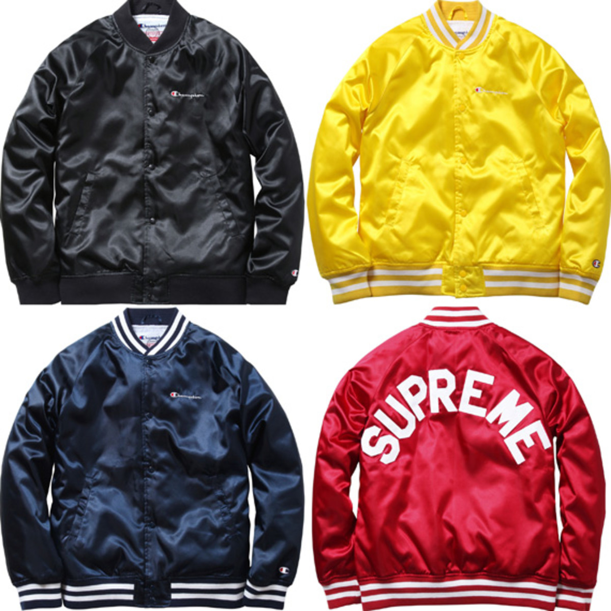 4b75d49a39433 ... a favorite among fans, the collaboration between Supreme and Champion  is back for another season this spring with the Supreme x Champion Satin  Jacket.