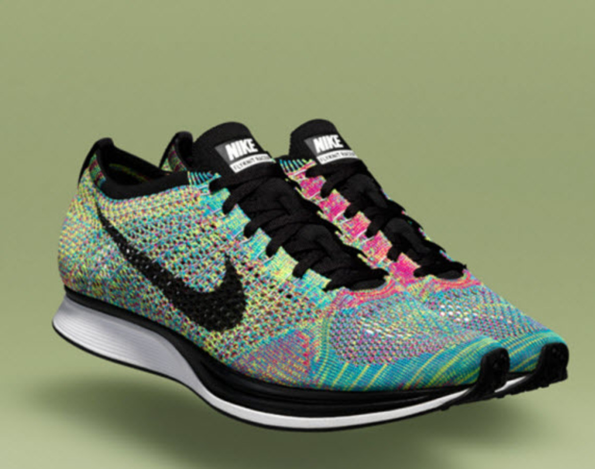 b856aa471066 Sneakerheads in London and Milan are getting some special edition Nike  Flyknit Racer s to add to their collection rocking a very trippy colorway  across ...
