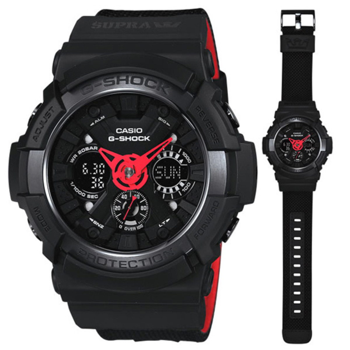 Supra X Casio G Shock Ga 200spr 1ajr Watch Freshness Mag 100l 1a 30th Anniversary Edition Water Resistant Up To 20 Atmospheric Bars Anti Magnetic
