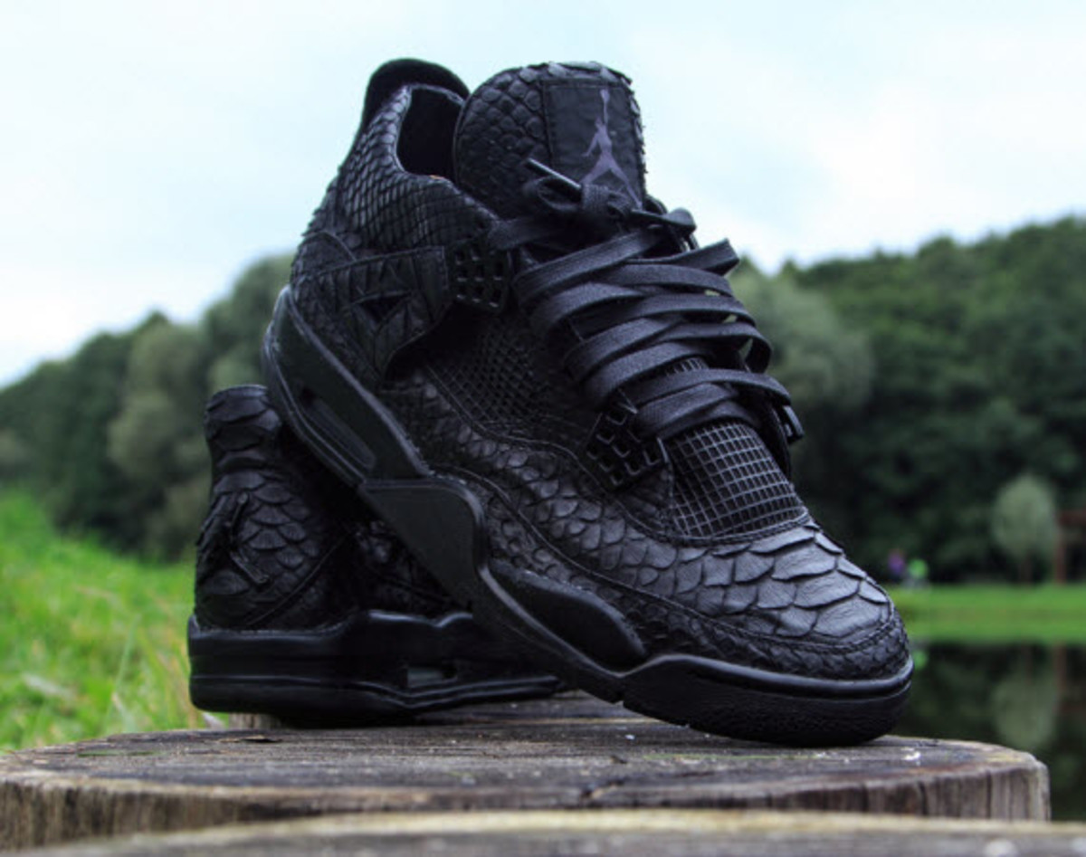 huge discount 50191 8ef20 This isn t the first time we ve seen a Python-inspired custom, but it is  the first time that sneaker customizer McMaggi has graced our pages.