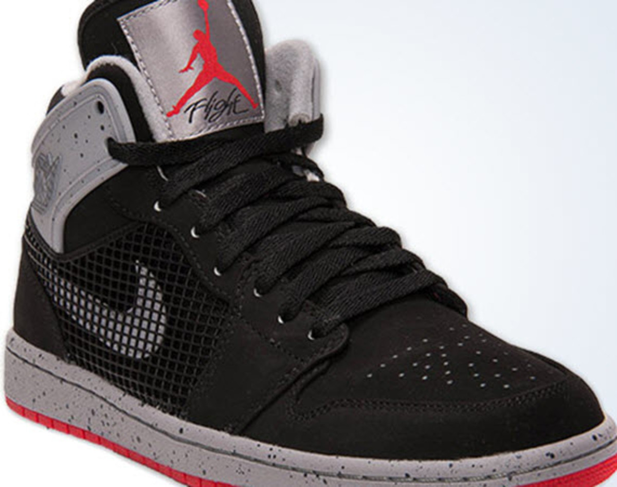 1cc21fad316 Air Jordan 1 Retro  89 - Black Fire Red-Cement Grey - Freshness Mag