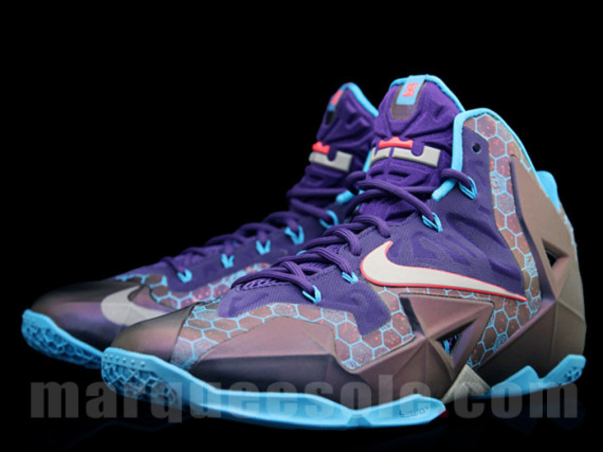the best attitude 0cf38 fe441 Nike LeBron 11. Style: 626374-500. Color: Court Purple/Reflective Silver-Vivid  Blue
