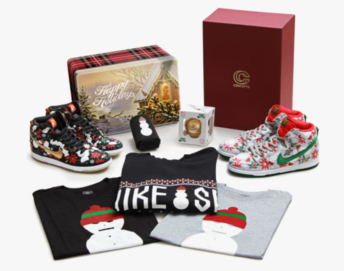 the latest 722f8 bb143 ... season for something a little special out of Cambridge, MA with the  sneaker boutique CONCEPTS unwrapping its Ugly Sweater collaboration with Nike  SB.