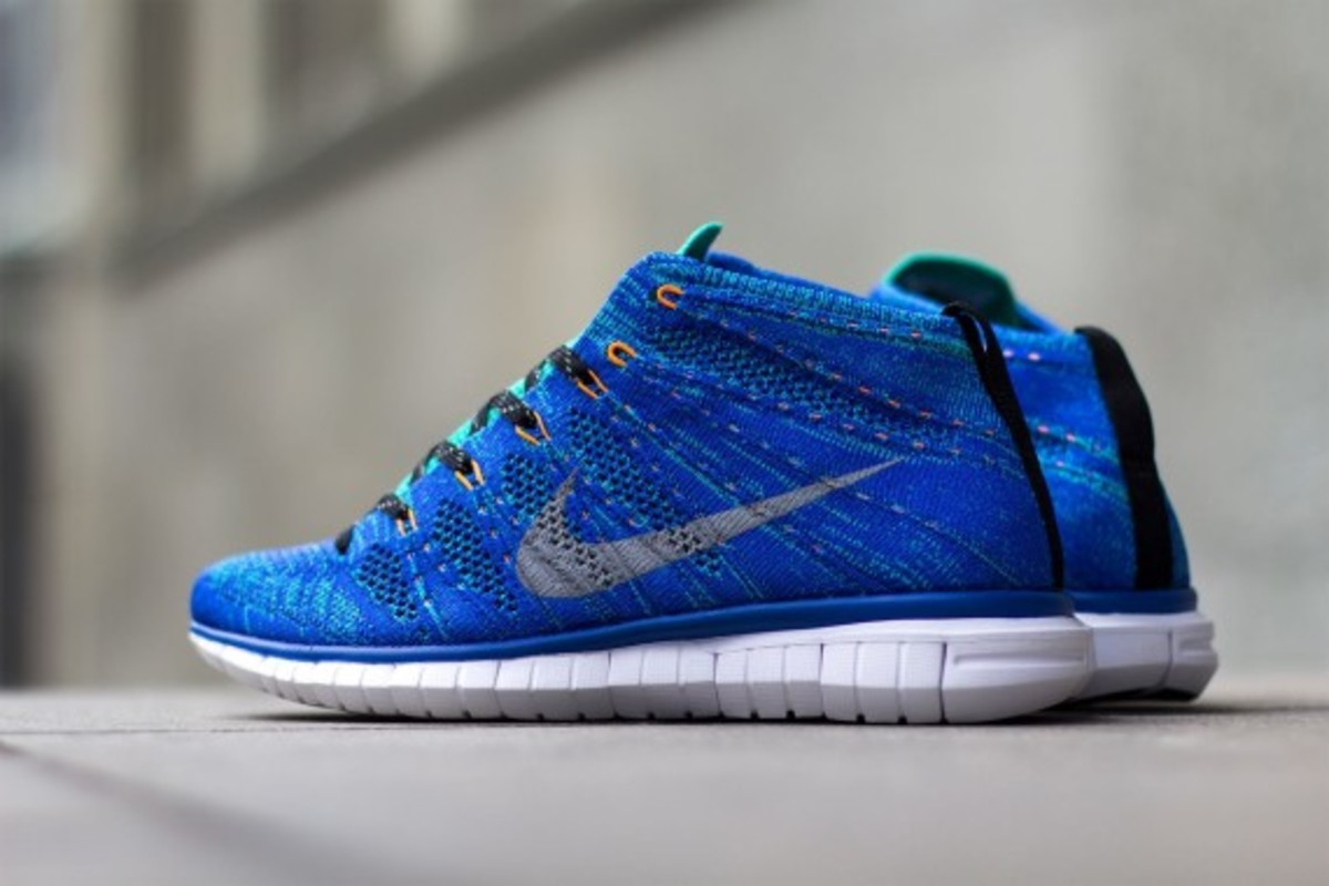 new style 790e7 2a4ce Nike Free Flyknit Chukka - Game Royal Wolf Grey-Atomic Teal-Black -