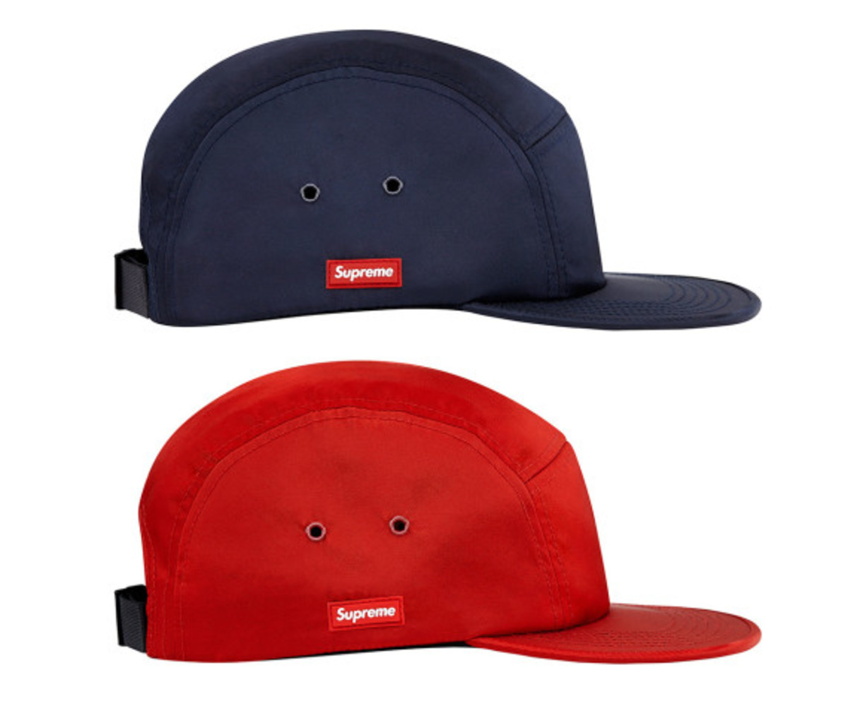 50555b0ee87 The new Supreme Side Rubber Patch Camp Cap is the perfect headwear for  those who wants to look a bit inconspicuous. Rather than a bold Supreme box  logo ...
