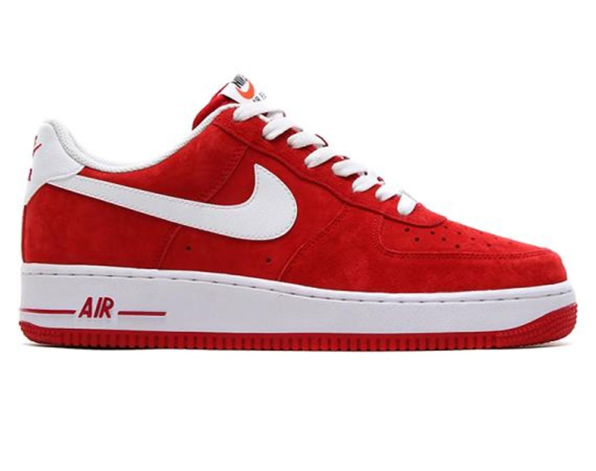 nike air force red suede