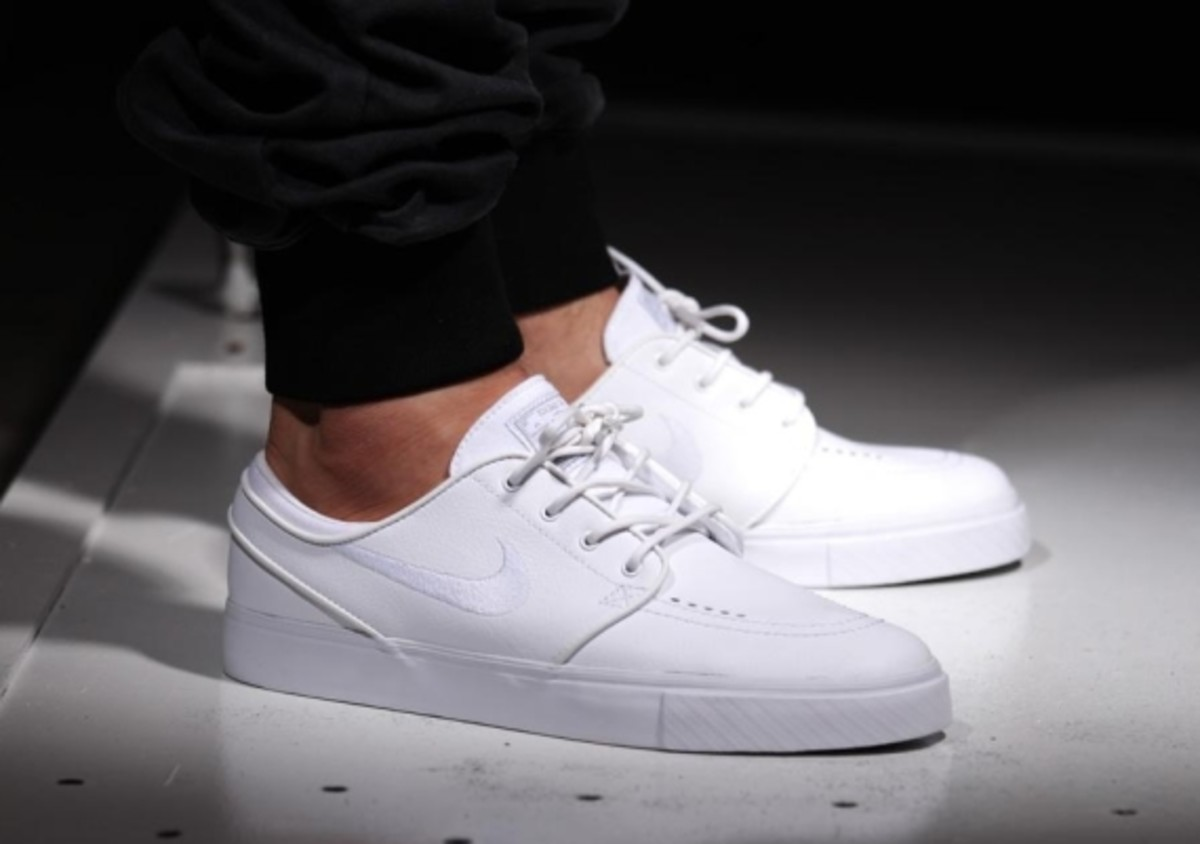 nike sb zoom stefan janoski leather all white whiteout freshness mag. Black Bedroom Furniture Sets. Home Design Ideas