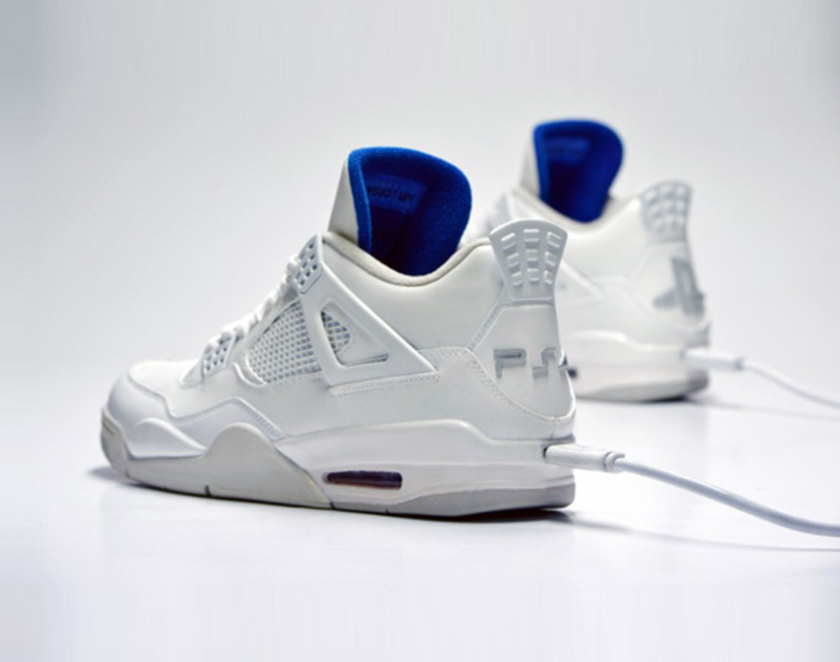 Freakersneaks X Ps4 Air Jordan 4 White Edition Freshness Mag