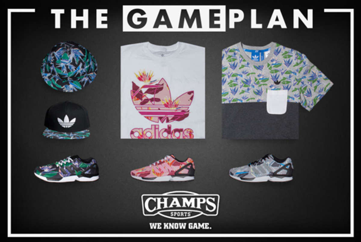 86fb27c01 The Game Plan by Champs Sports - adidas ZX Flux Floral Collection ...