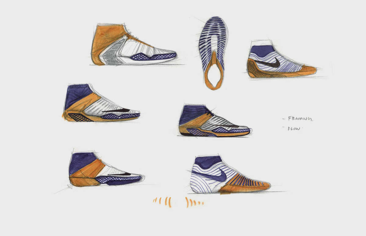 An early sketch of the NikeCourt Air Zoom Ultrafly.